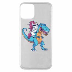 Чохол для iPhone 11 Єдиноріг і динозавр