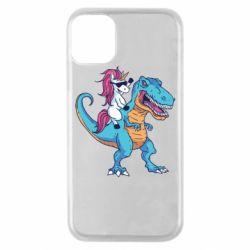 Чохол для iPhone 11 Pro Єдиноріг і динозавр