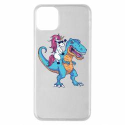 Чохол для iPhone 11 Pro Max Єдиноріг і динозавр