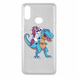 Чохол для Samsung A10s Єдиноріг і динозавр