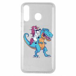 Чохол для Samsung M30 Єдиноріг і динозавр