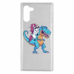Чохол для Samsung Note 10 Єдиноріг і динозавр