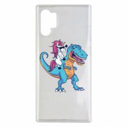 Чохол для Samsung Note 10 Plus Єдиноріг і динозавр