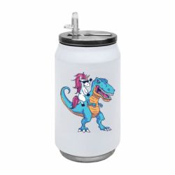 Термобанка 350ml Єдиноріг і динозавр
