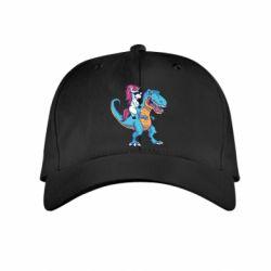 Дитяча кепка Єдиноріг і динозавр