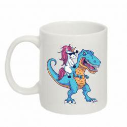 Кружка 320ml Єдиноріг і динозавр