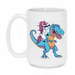 Кружка 420ml Єдиноріг і динозавр