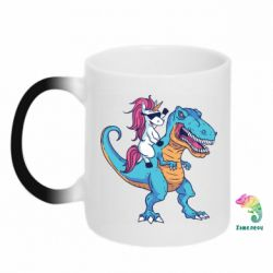 Кружка-хамелеон Єдиноріг і динозавр