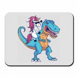 Килимок для миші Єдиноріг і динозавр