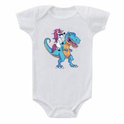 Дитячий бодік Єдиноріг і динозавр