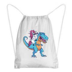 Рюкзак-мішок Єдиноріг і динозавр