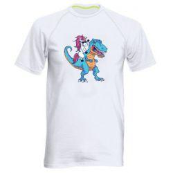 Чоловіча спортивна футболка Єдиноріг і динозавр