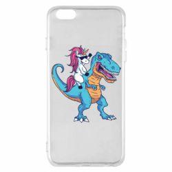 Чохол для iPhone 6 Plus/6S Plus Єдиноріг і динозавр