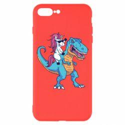 Чохол для iPhone 7 Plus Єдиноріг і динозавр