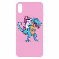 Чохол для iPhone X/Xs Єдиноріг і динозавр