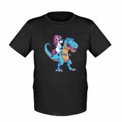 Дитяча футболка Єдиноріг і динозавр
