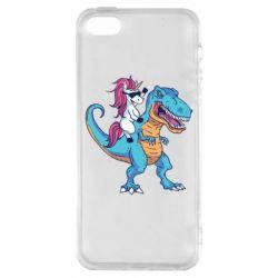 Чохол для iphone 5/5S/SE Єдиноріг і динозавр
