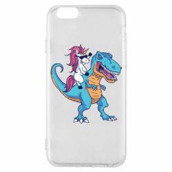 Чохол для iPhone 6/6S Єдиноріг і динозавр