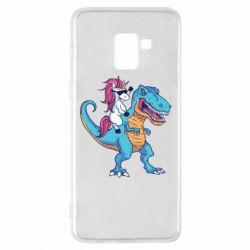 Чохол для Samsung A8+ 2018 Єдиноріг і динозавр