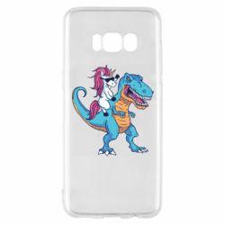 Чохол для Samsung S8 Єдиноріг і динозавр