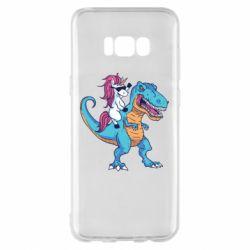 Чохол для Samsung S8+ Єдиноріг і динозавр