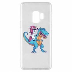 Чохол для Samsung S9 Єдиноріг і динозавр