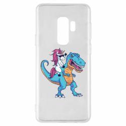 Чохол для Samsung S9+ Єдиноріг і динозавр