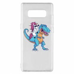 Чохол для Samsung Note 8 Єдиноріг і динозавр