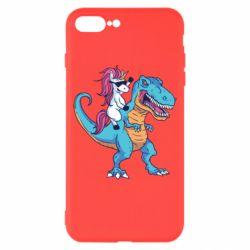 Чохол для iPhone 8 Plus Єдиноріг і динозавр