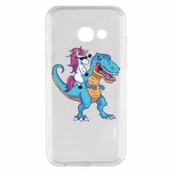 Чохол для Samsung A3 2017 Єдиноріг і динозавр