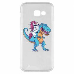 Чохол для Samsung A5 2017 Єдиноріг і динозавр