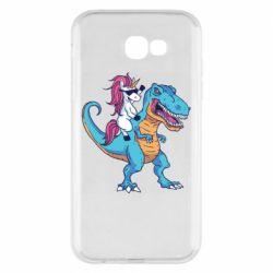 Чохол для Samsung A7 2017 Єдиноріг і динозавр