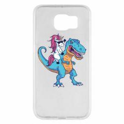 Чохол для Samsung S6 Єдиноріг і динозавр