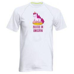 Мужская спортивная футболка Единорог с пончиком
