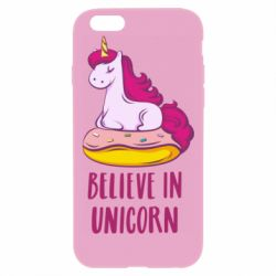 Чехол для iPhone 6 Plus/6S Plus Единорог с пончиком
