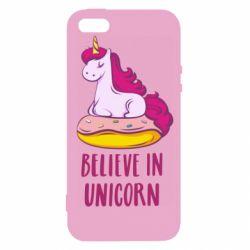 Чехол для iPhone5/5S/SE Единорог с пончиком