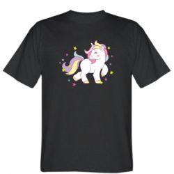 Мужская футболка Единорог в звёздах