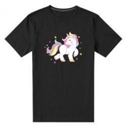 Мужская стрейчевая футболка Единорог в звёздах
