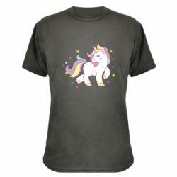 Камуфляжная футболка Единорог в звёздах