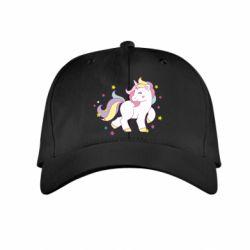 Детская кепка Единорог в звёздах