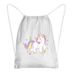 Рюкзак-мешок Единорог в звёздах