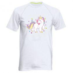 Мужская спортивная футболка Единорог в звёздах