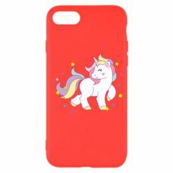 Чехол для iPhone 7 Единорог в звёздах
