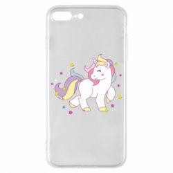 Чехол для iPhone 7 Plus Единорог в звёздах