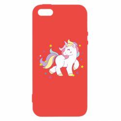 Чехол для iPhone5/5S/SE Единорог в звёздах