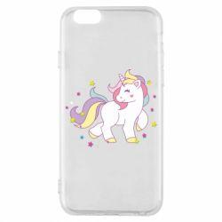 Чехол для iPhone 6/6S Единорог в звёздах
