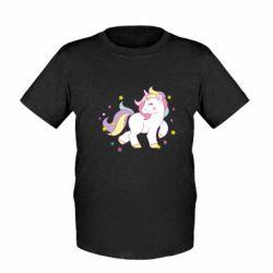 Детская футболка Единорог в звёздах