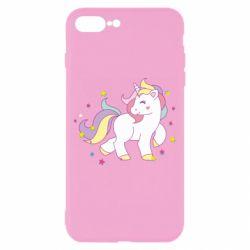 Чехол для iPhone 8 Plus Единорог в звёздах