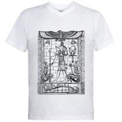 Купить Мужская футболка с V-образным вырезом Egyptian Pharaoh, FatLine