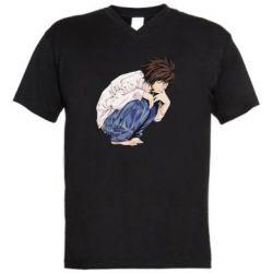 Чоловіча футболка з V-подібним вирізом El Death Note
